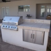Travertine BBQ Island