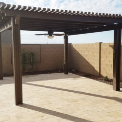 Pergola on Paver Patio