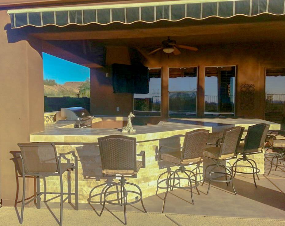BBQ Island with Bar Top