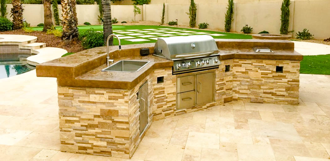 BBQ Island with Sink