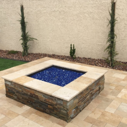 Fire Pit with Stone Sides