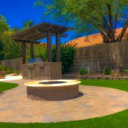 Fire Pit with Artificial Grass