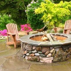 backyard-landscape-design-snohomish-firepit