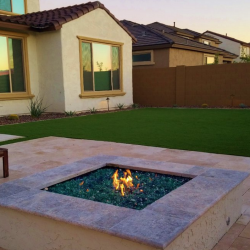 Artificial Grass and Fire Pit