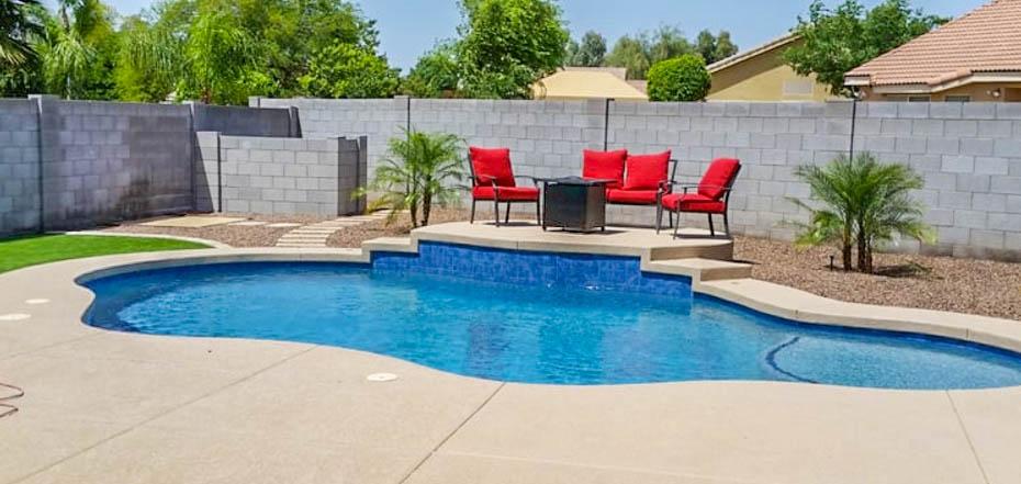 Outdoor Living Phoenix Landscape Design Pool Backyard
