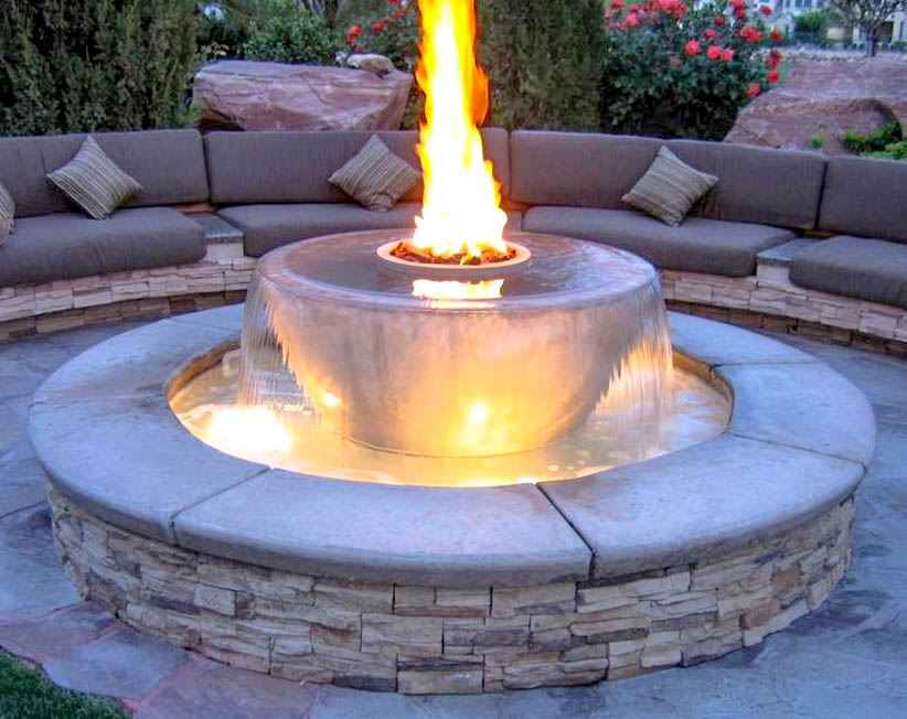 Fountain Fire Pit with Seating