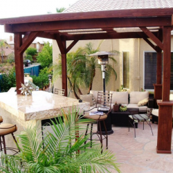 Granite Kitchen with Pergola