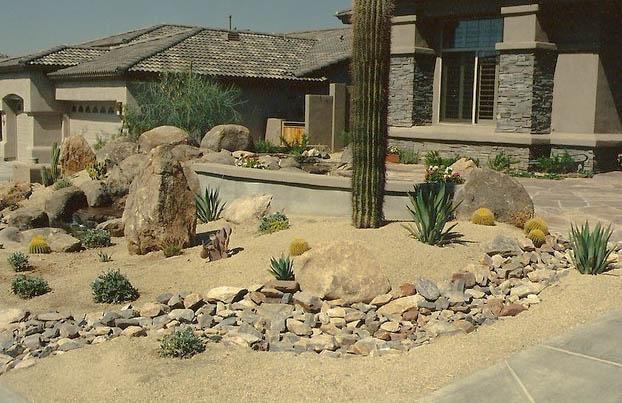 Desert Landscapes Rip Rap