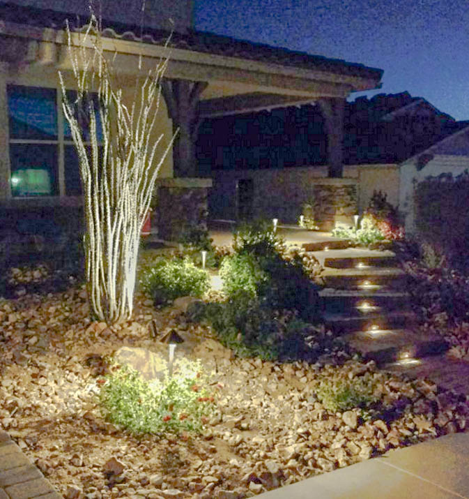 Outdoor lighting landscape lighting phoenix scottsdale front yard landscape lighting aloadofball Gallery
