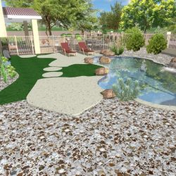 3D Landscape Design - Backyard