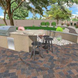 3D Landscape Design - BBQ Island