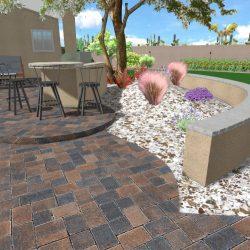 3D Landscape Design - Pavers