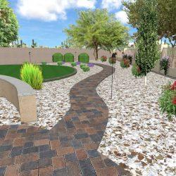 3D Landscape Design - Pathway