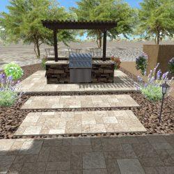 3D Landscape Design - Pergola