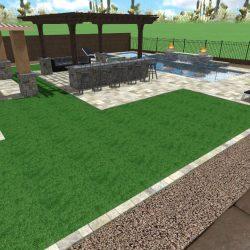 3D Landscape Design - Backyard View