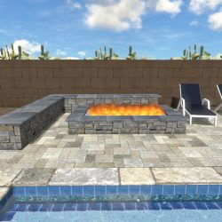 Fire Pit and Day Bed