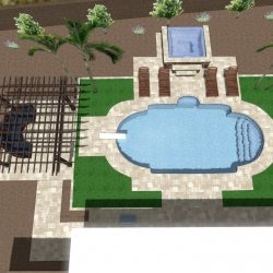 3D Landscape Design - Backyard Aerial