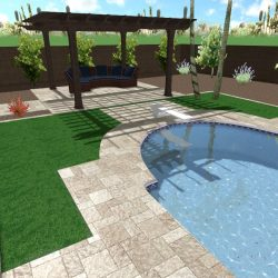Artificial Grass and Pergola
