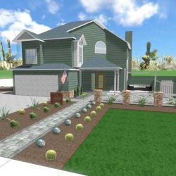 3D Renderings Front Yard