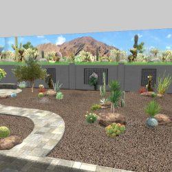 3D Landscape Rendering Front Yard